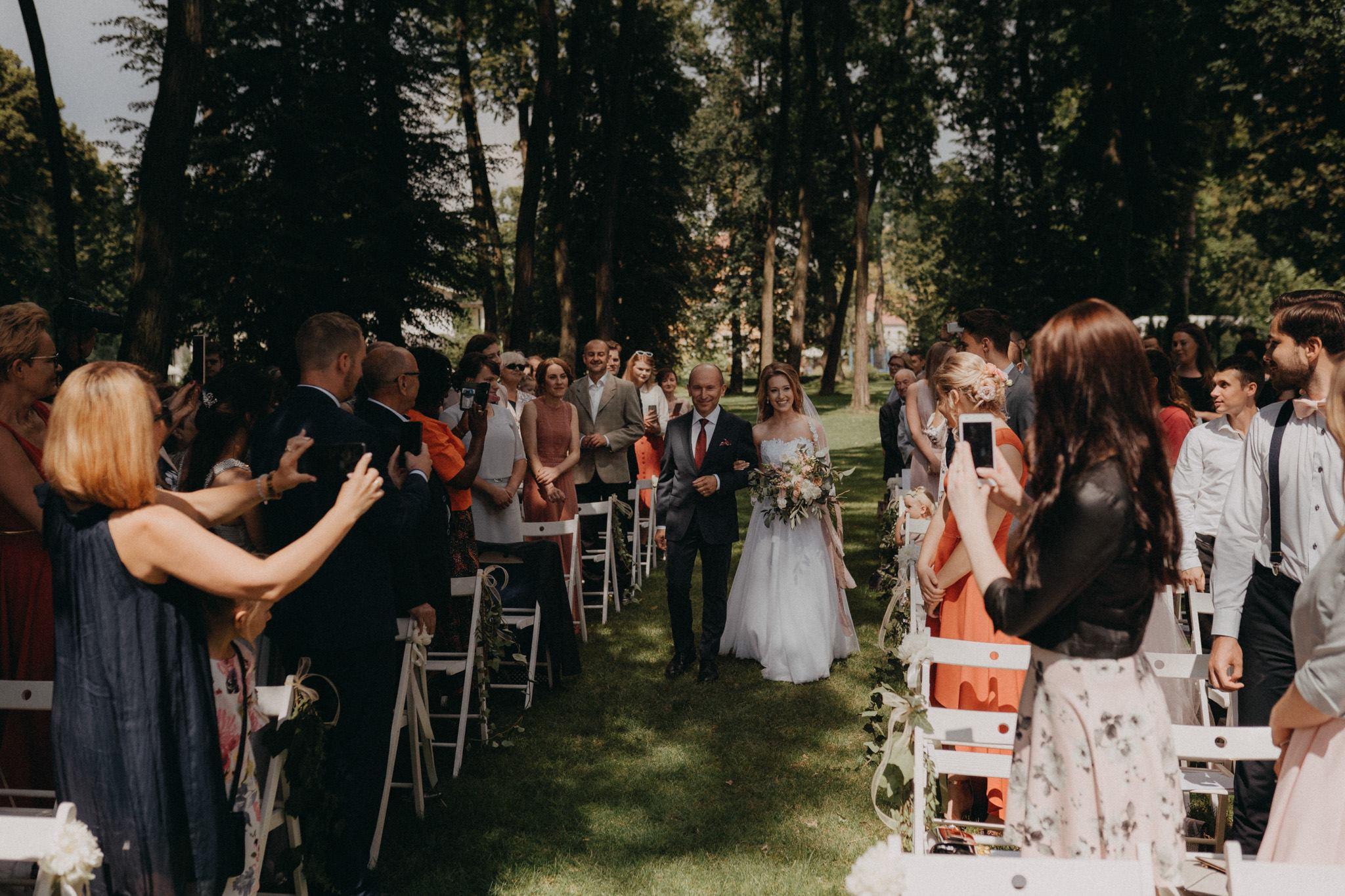 Ślub plenerowy w pałacu Wiechlice